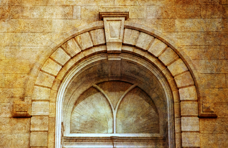 Manti Temple Arched Window