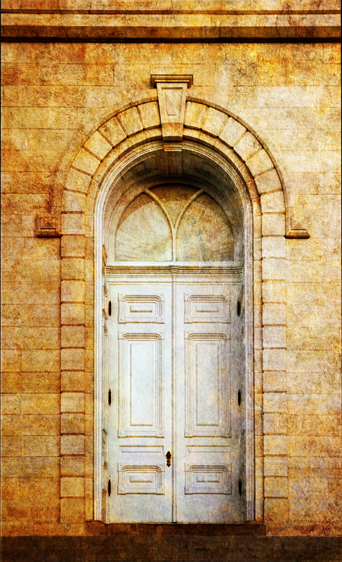 Manti Temple Door