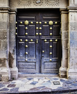 Cusco Door With Gold