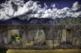 Three Windows at Machu Picchu